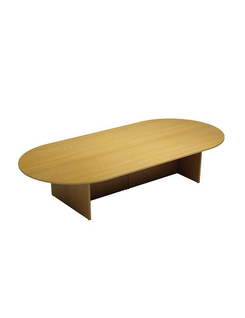 Oval Boardroom Table 3000m - Panel Base