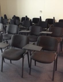 Lectern Chairs Setting