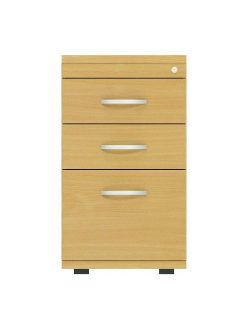 3 Drawer Desk High Pedestal