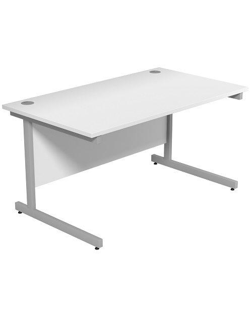 White 1400mm Office Desk